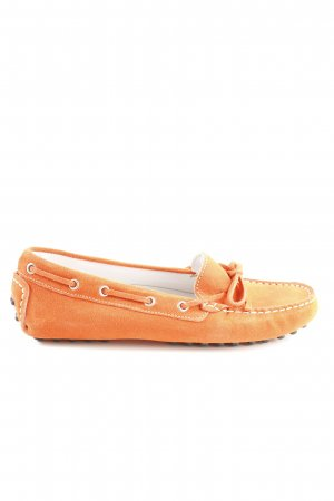 Alpin de luxe Mocassins orange clair style d'affaires