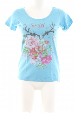 Alpin de luxe T-Shirt flower pattern casual look
