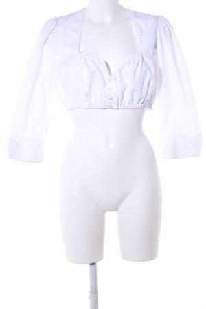 Alpin de luxe Blusa folclórica blanco look casual