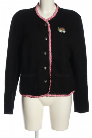 Alpin de luxe Wool Blazer black-pink casual look