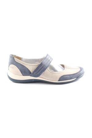 Alpina Chaussures Mary Jane bleu-crème style décontracté