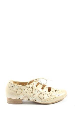Alpina Zapatos brogue crema look casual