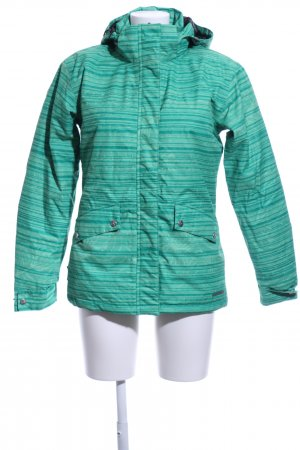 Alpine Pro Softshell Jacket turquoise striped pattern casual look