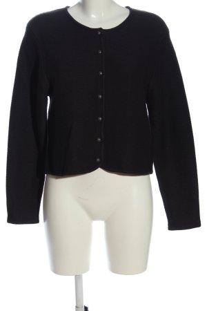 Alpine wear Knitted Cardigan black casual look