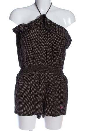 Alprausch Jumpsuit brown-white spot pattern casual look