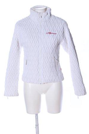 Alprausch Outdoorjacke weiß Steppmuster Casual-Look
