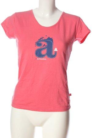 Alprausch Koszulka z nadrukiem różowy-niebieski Wydrukowane logo