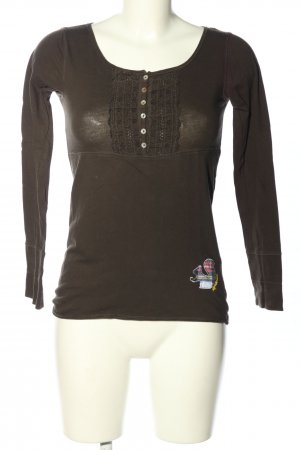 Alprausch Shirt Tunic brown casual look
