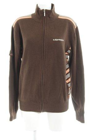 Alprausch Veste en tricot motif rayé style décontracté