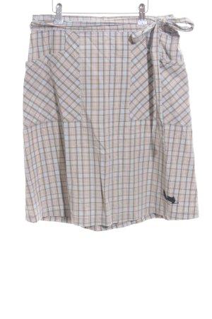 Alprausch Jupe portefeuille motif à carreaux style simple