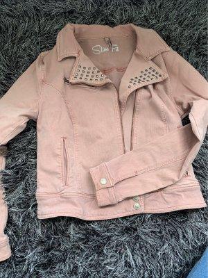 Alt rosa Jeansjacke