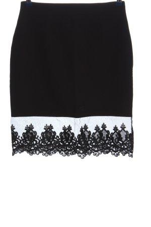 Altamira Falda de encaje negro Patrón de tejido look casual