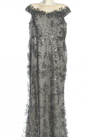altanight Izmir Evening Dress green-silver-colored abstract pattern elegant
