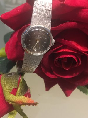 Alte junghans Armbanduhr , 835 Silber , handaufzug