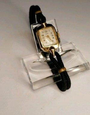 Vintage Reloj analógico negro-color oro