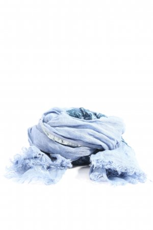 altea Fringed Scarf blue-light grey casual look