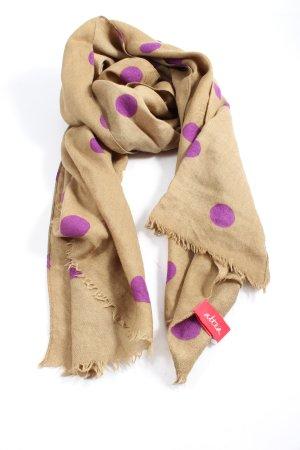 altea Apaszka brązowy-fiolet Wzór w kropki W stylu casual