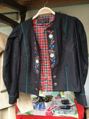 Altenbeurer Tradycyjna kurtka czarny-leśna zieleń