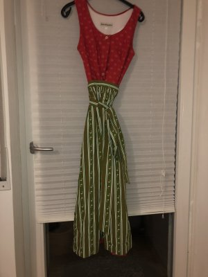 Dirndl red-grass green