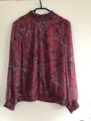 Altrosa Bluse mit Muster von Vero Moda