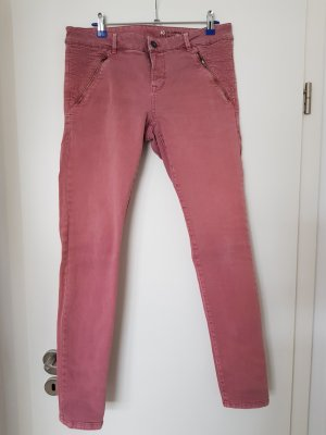 edc pantalón de cintura baja rosa empolvado