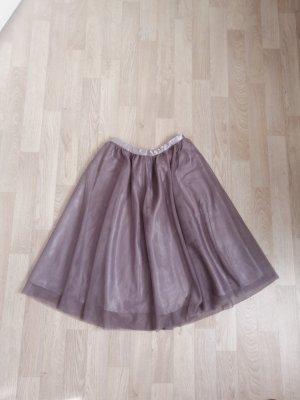 Amisu Falda de tul rosa empolvado-malva