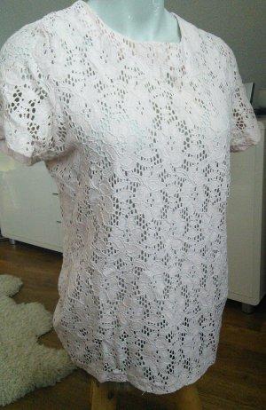 Lauren by Ralph Lauren Siateczkowa koszulka różany