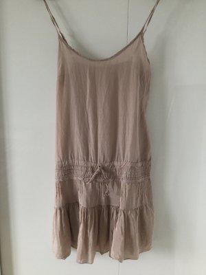 Altrosa Seiden-/Baumwoll-Kleid