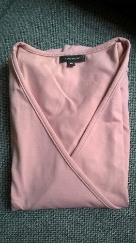 altrosa ! Vero Moda Shirt rosa pastell M V-Ausschnitt Wickeloptik festlich leger klassisch