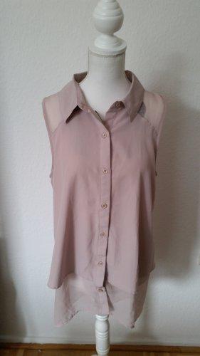Altrosafarbene, doppellagige Bluse mit transparenten Details von Silvian Heach