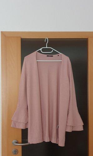 Zero Giacca in maglia rosa antico