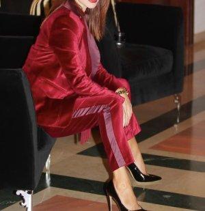 Altuzarra Trouser Suit multicolored velvet