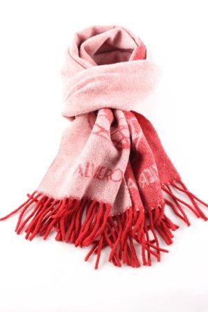 Wollschal rot-nude Motivdruck Casual-Look