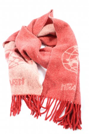 Alviero Martini Woolen Scarf red themed print casual look