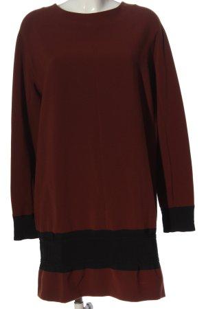 Alysi Abito a maniche lunghe rosso-nero stile casual