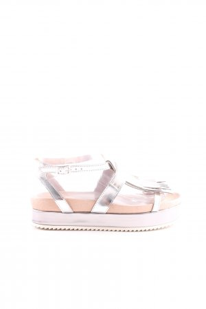 Alysi Plateauzool sandalen zilver casual uitstraling