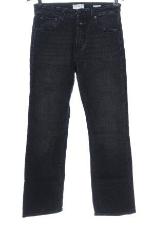Alysi Jeans coupe-droite noir style décontracté