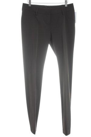 Alysi Pantalone jersey marrone scuro stile classico