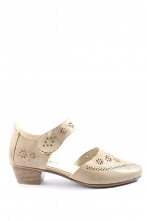 Alyssa Mary Jane Halbschuhe goldfarben Casual-Look