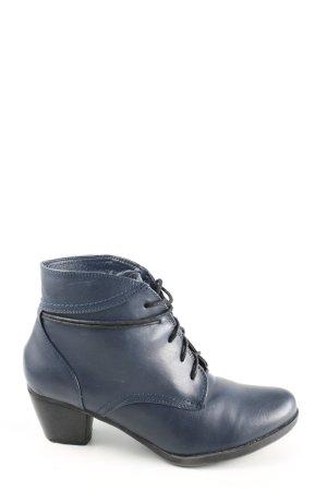 Alyssa Bottines à lacets bleu style décontracté