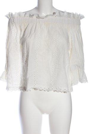 Alythea Blusa alla Carmen bianco stile casual