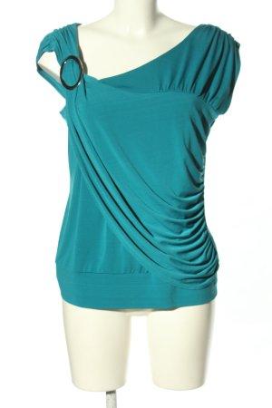 Alyx Top tipo cascada azul look casual