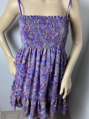 am christine Sukienka typu babydoll ciemny fiolet Tkanina z mieszanych włókien