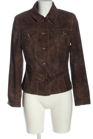 Amalfi Veste courte brun moucheté style mode des rues