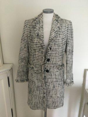 Amalfi Mantel Jacke schwarz weiß Boucle 36 S