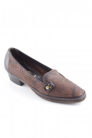 Amalfi Pointed Toe Pumps dark brown-cognac-coloured animal pattern