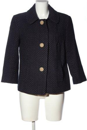 Amaryllis Short Coat black-cream spot pattern casual look