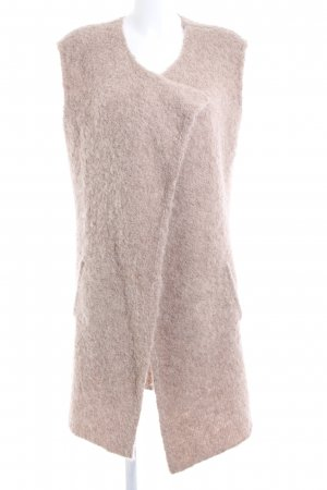 Amaryllis Long Knitted Vest nude casual look