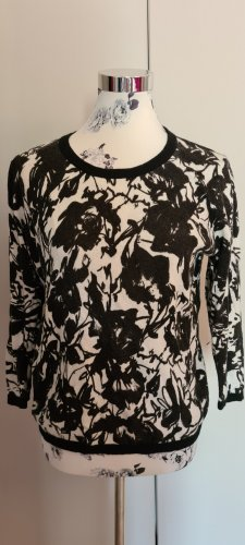 Amaryllis Crewneck Sweater white-black