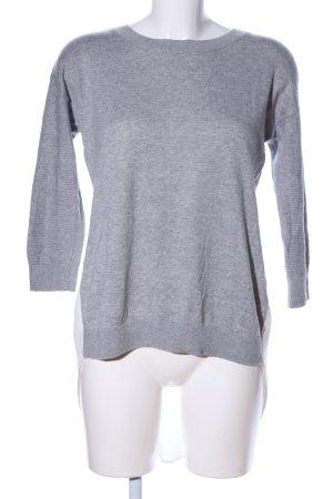 Amaryllis Jersey de cuello redondo gris claro moteado look casual